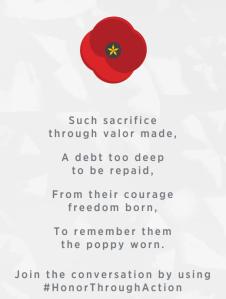 poppy USAA memorial day
